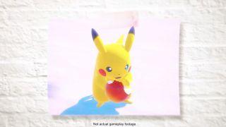 Pikachu eating an apple. An apple! So precious.