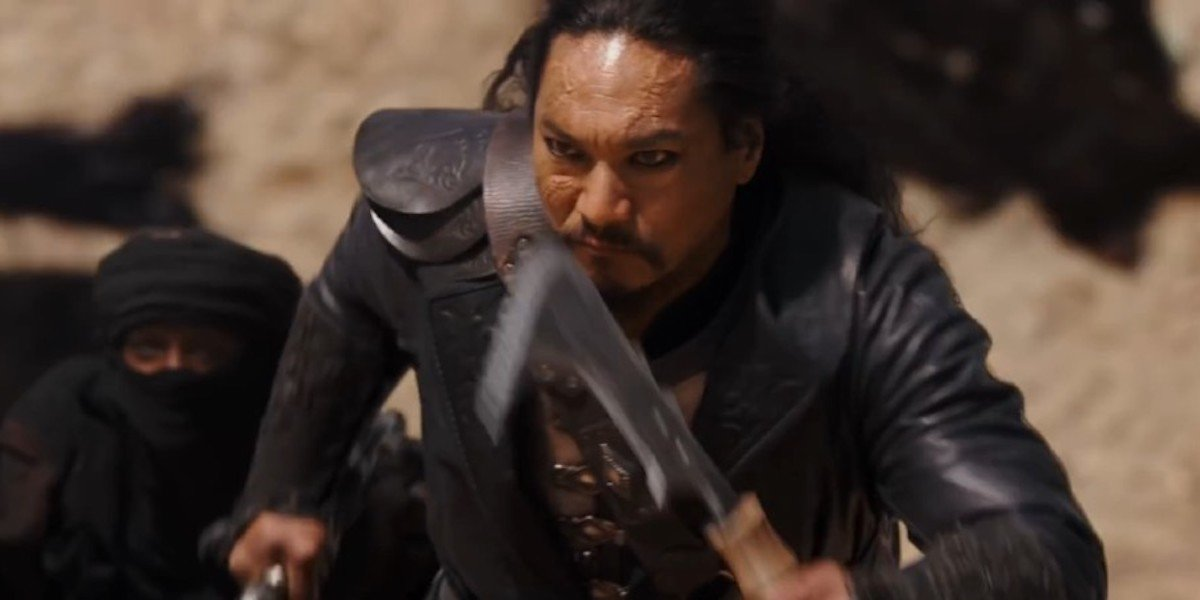 Jason Scott Lee as Bori Khan in Mulan 2020