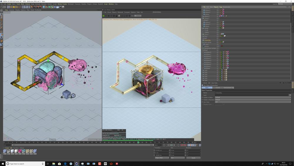 Screenshot of OctaneRender preview in action