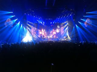 Clay Paky Sharpy Fixtures on Carrie Underwood's World Tour