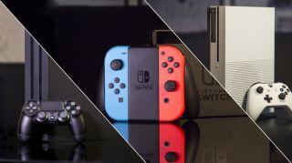 Bästa spelkonsoler: PS4, Xbox One och Nintendo Switch.