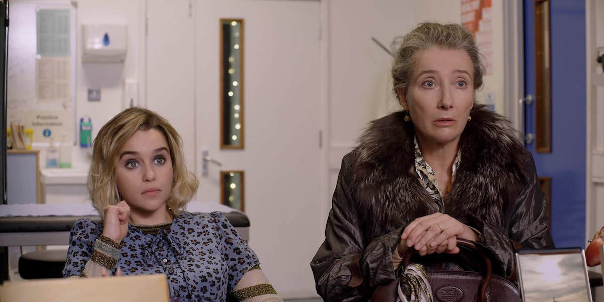 Emilia Clarke and Emma Thompson on Last Christmas