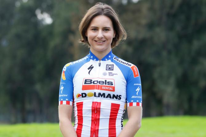 USA national road champion Megan Guarnier