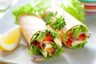 A veggie wrap
