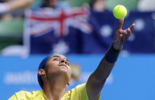 Nick Kyrgios' serve, tennis