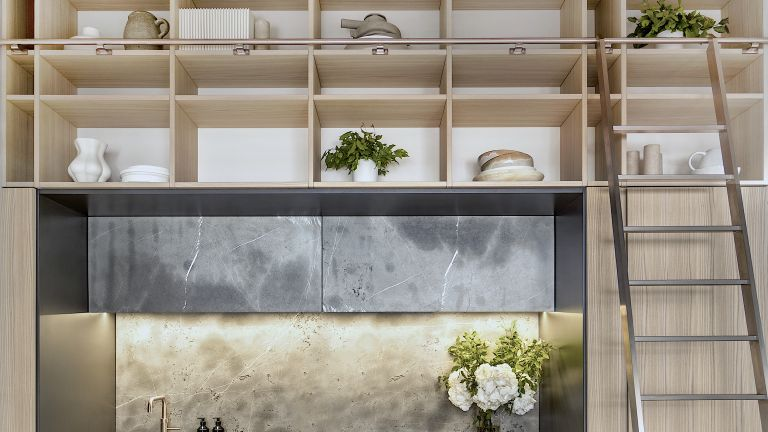 Cupboards used in invisible kitchens trend