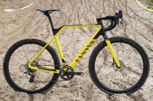 Thumbnail Credit (cyclingweekly.com): Kinked top tube, integrated cockpit and 650b wheels on smaller sizes on Canyon's carbon cyclocross race machine