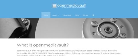 Screenshot of the Open Media Vault's website