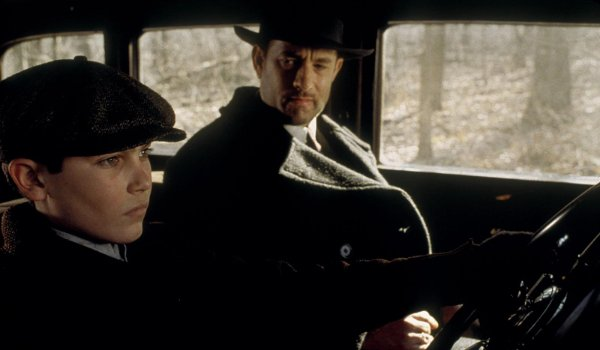 Road To Perdition Tom Hanks teaches Tyler Hoechlin how to drive