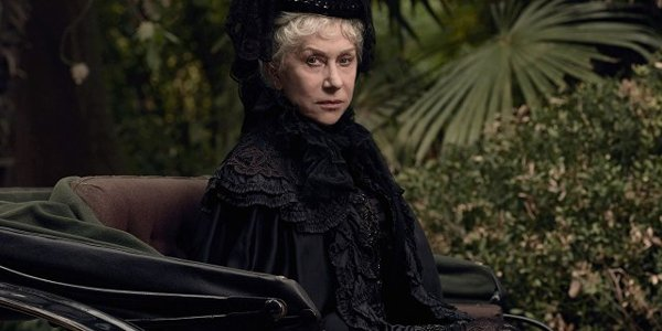 Winchester Helen Mirren staring eerily at the camera