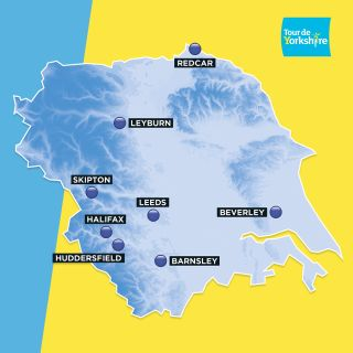 Tour de Yorkshire 2020 start-finish locations