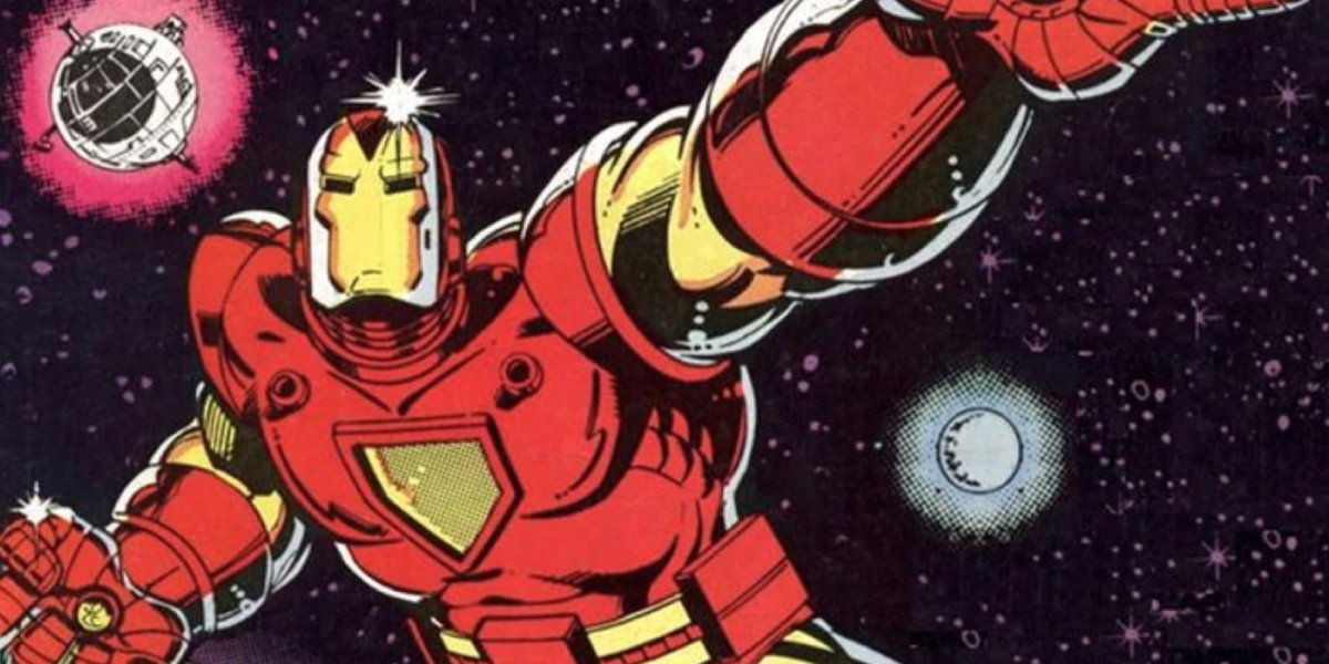 Tony Stark uses his Space Armor Iron Man suit in outer space