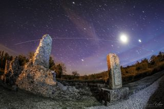 ISS over Ammaia by Miguel Claro