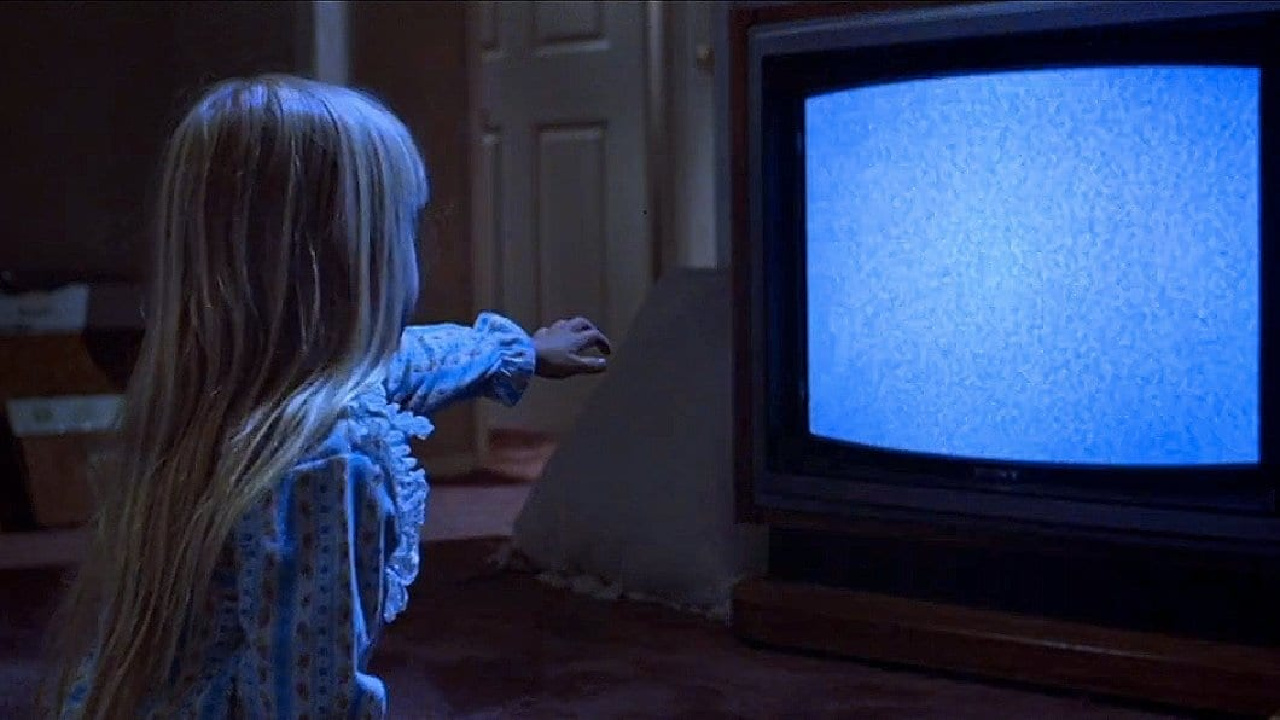 The classic television scene in Poltergeist.