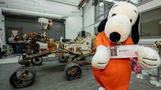 In Photos: Snoopy Visits NASA's Jet Propulsion Laboratory