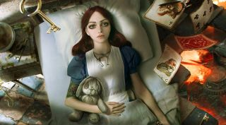 Alice lies in bed