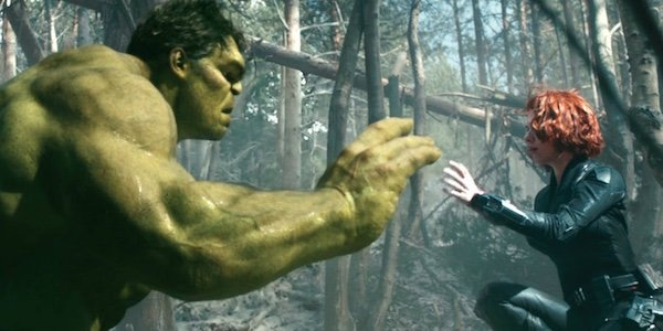Hulk and Widow in Age of Ultron