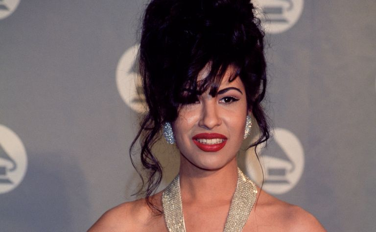 Singer Selena (Quintanilla) receives Grammy Award at The 36th Annual Grammy Awards on March 1, 1994 in New York