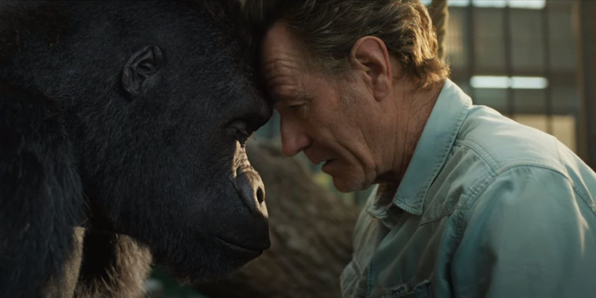 Bryan Cranston as Mack with Ivan in The One And Only Ivan