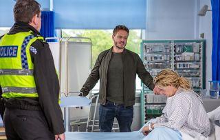 David confronts Maya in hospital in Emmerdale