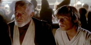 Alec Guinness and Mark Hamill in A New Hope