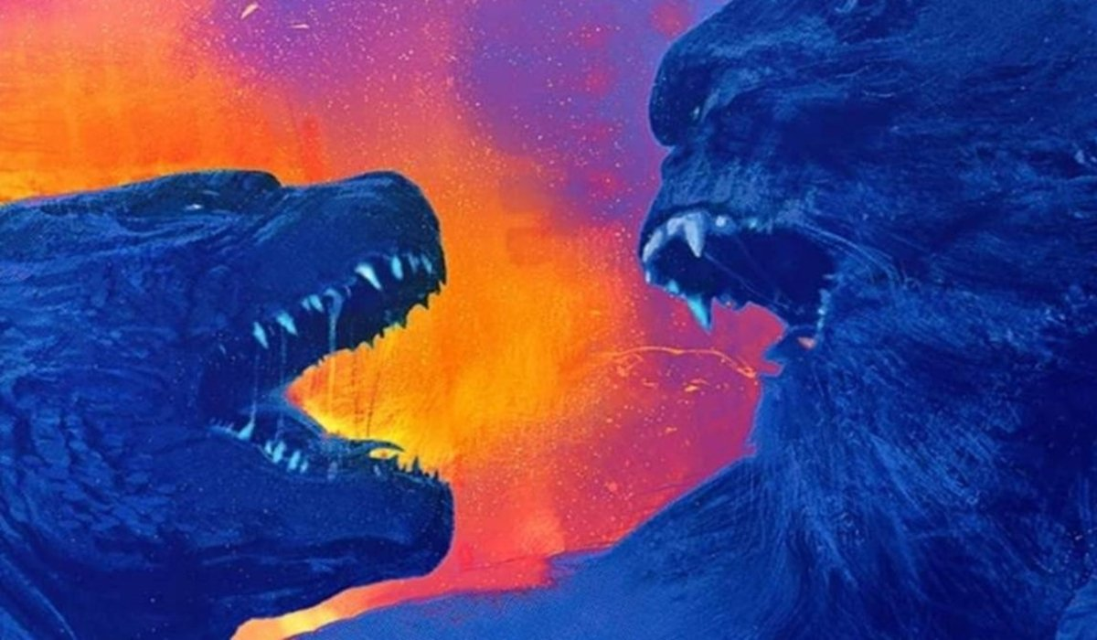 Godzilla vs Kong both Titans facing off