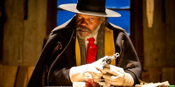 Samuel L. Jackson as Major Marquis Warren in The Hateful Eight