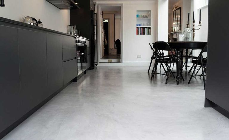 poured concrete kitchen floor how to choose the best resin or concrete flooring real homes 4380