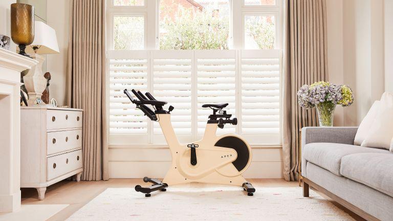 Apex bike in living room