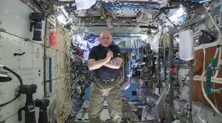 Scott Kelly Talks to Reporters from Space Station
