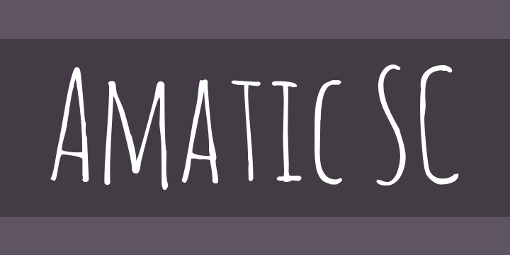 Free handwriting fonts: Amatic
