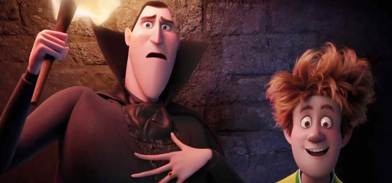 Dracula and Jonathan bonding in Hotel Transylvania