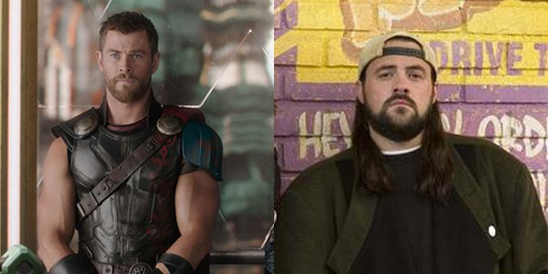 Kevin Smith and thor's chris hemsworth