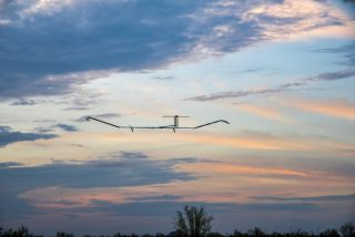 The Airbus Zephyr drone launches for its record-setting flight on July 11.