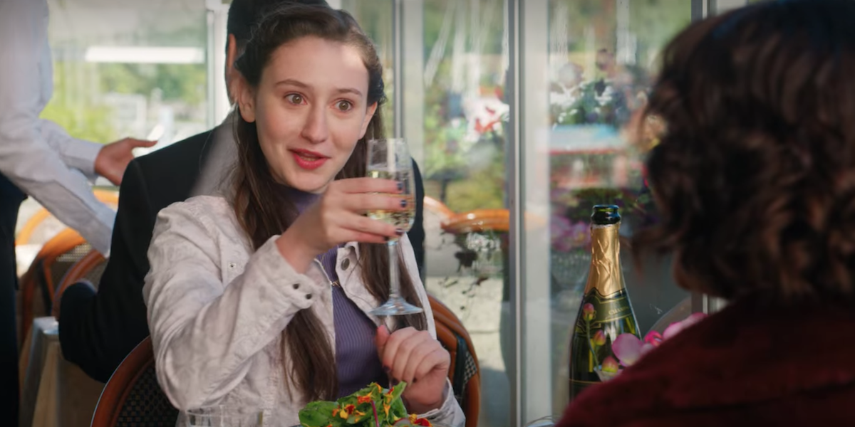 Firefly Lane Marah sips Tully's champagne