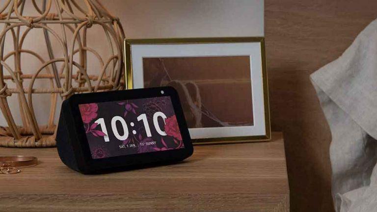Amazon Echo Show 5on bedside table