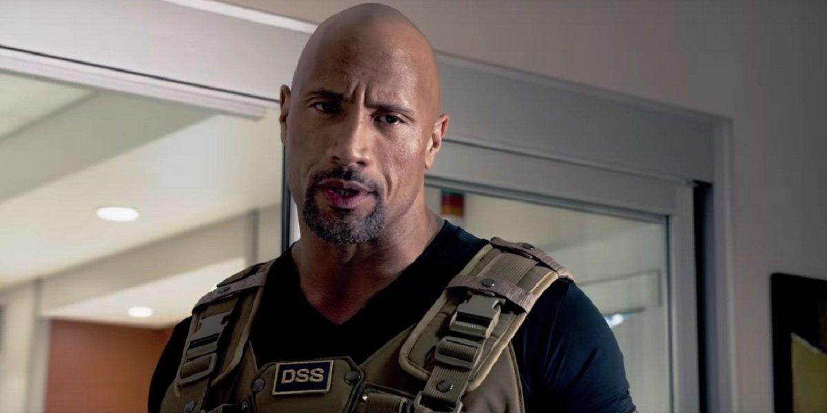 Dwayne Johnson as Luke Hobbs in Furious 7