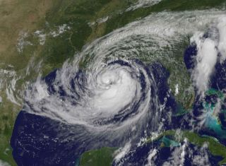 Hurricane Isaac on Tuesday, Aug. 28.