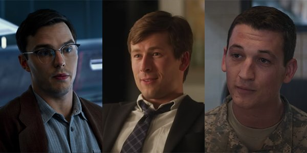 Nicholas Hoult, Glen Powell and Miles Teller