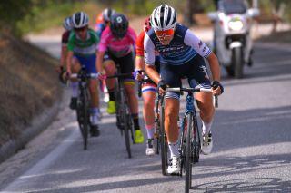 Trek-Segafredo's Elisa Longo Borghini on the attack during the 2020 Giro Rosa