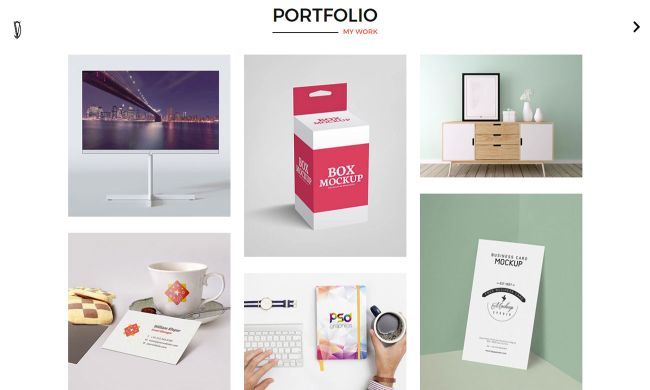 10 on-trend portfolio templates: CV Portfolio