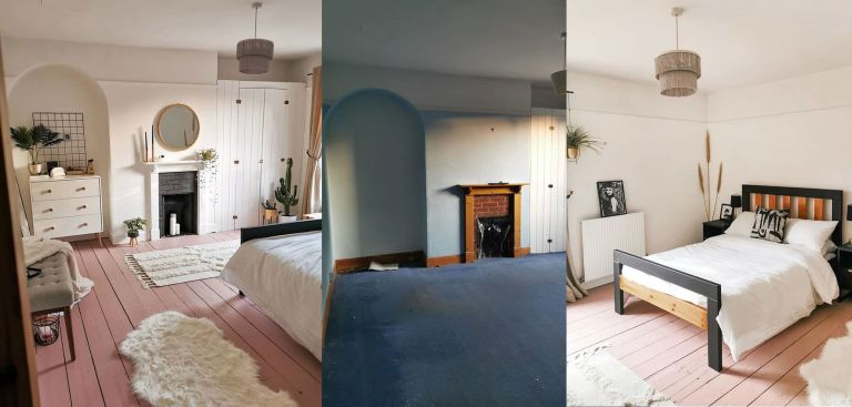 Leanne Lim-Walker spare room transformation: 2 after photos, one before