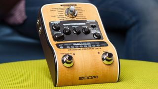 zoom s ac 2 pedal promises to restore guitar tone lost through acoustic pickups musicradar. Black Bedroom Furniture Sets. Home Design Ideas