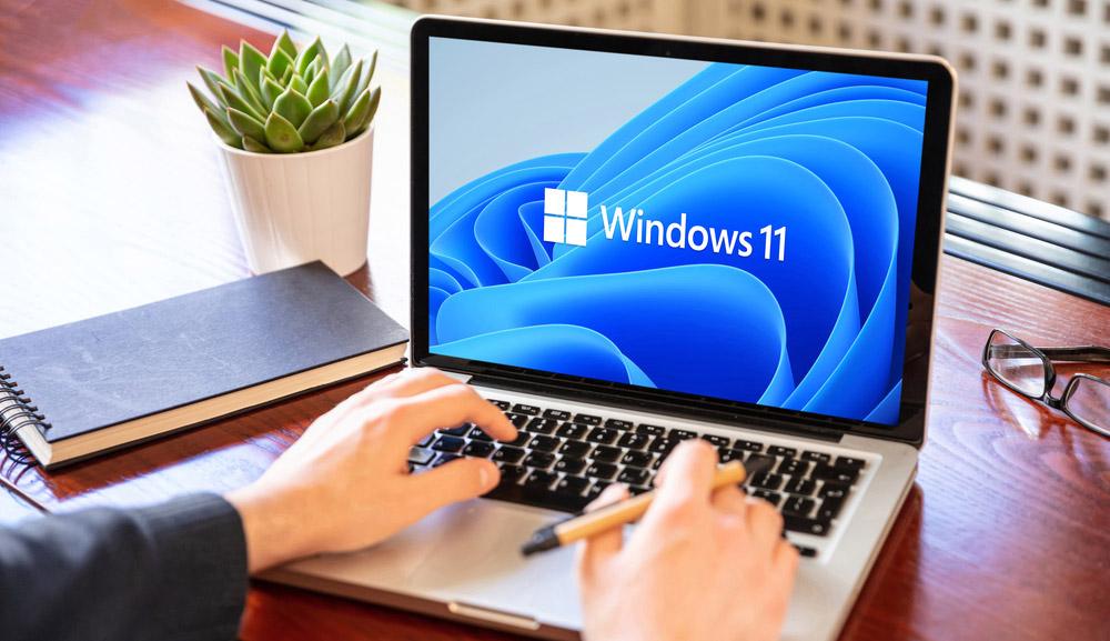 Microsoft Windows 11 running on an Apple MacBook laptop.