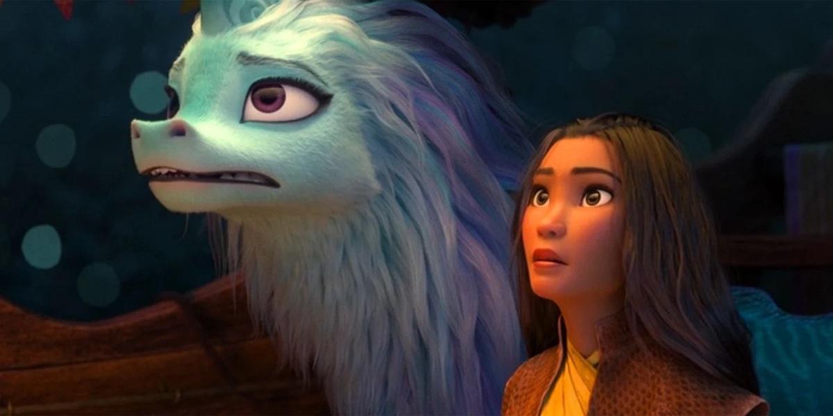 Sisu and Raya looking concerned in Disney's Raya and the Last Dragon