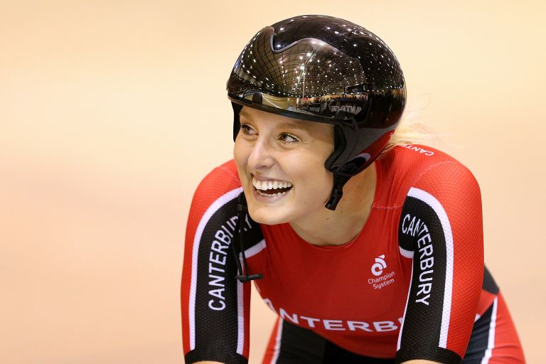 Olivia Podmore at the New Zealand National Track Championships in 2017