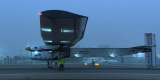 Solar Impulse 2 on Abu Dhabi Runway