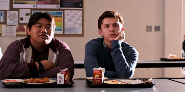 Ned and Peter Parker at lunch in Spider-Man: Homecoming