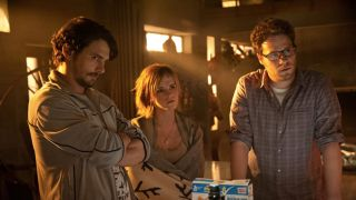 James Franco, Emma Watson, and Seth Rogen in This is the End