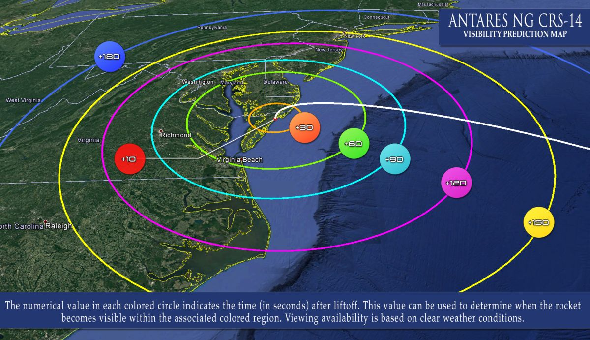 An Antares rocket launch for NASA may be visible along the US East Coast tonight. Here's how to watch.